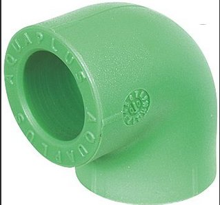 AquaPlus PN25 Γωνία 90° - Elbow 90° welded PP-R female