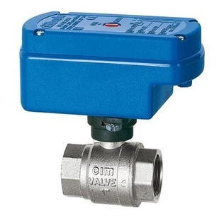 CIM 602RE - Motor operated two ways ball valve - female-female