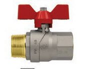 EVOLUTION GP2240/86004 - Full bore ball valve - Male/Female threads- Red Aluminium butterfly handle