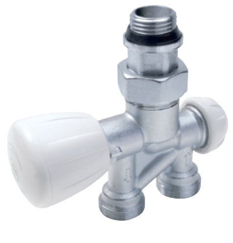 R356B1 - Thermostatc Valve for bathroom radiators - straight type - two-pipe system