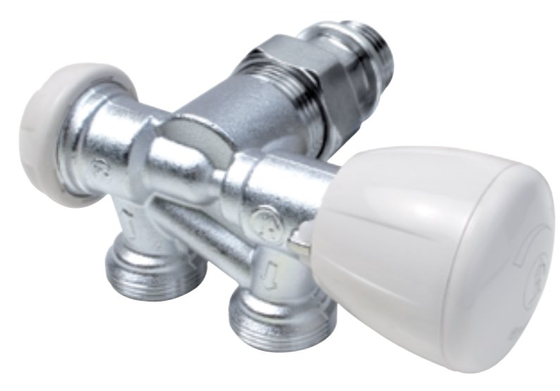R357B1 - Thermostatc Valve for bathroom radiators - angle type - two-pipe system