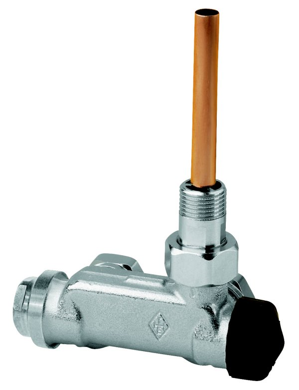 E-Z Angle type - Thermostatc Valve for bathroom radiators - angle type - two-pipe system