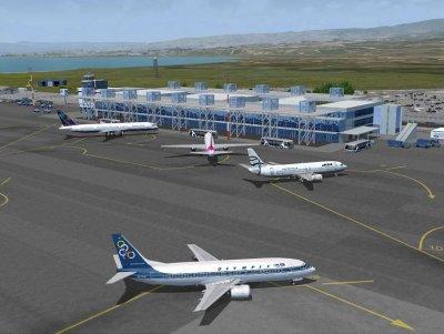 Aircraft maintenance building at Athens International Airport