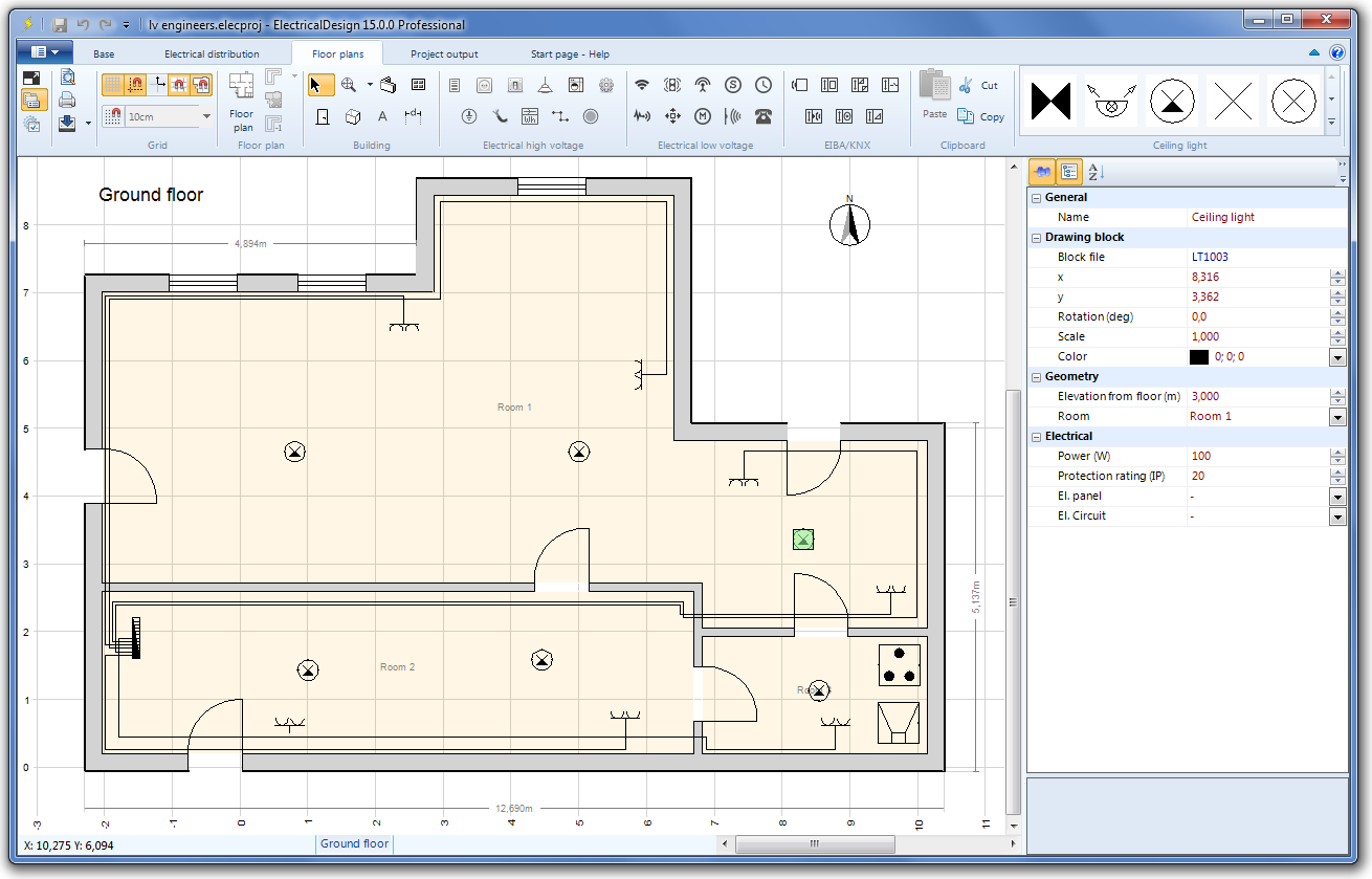 Electricaldesign Electrical floor plan software