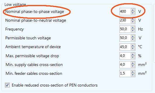 Cable size calculation low voltage network parameters greentooth Images
