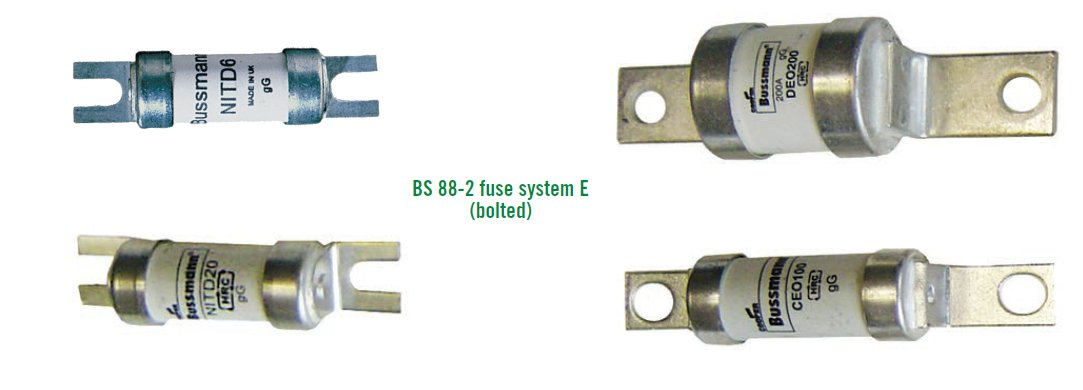 BS 88-2 fuse system E (bolted)