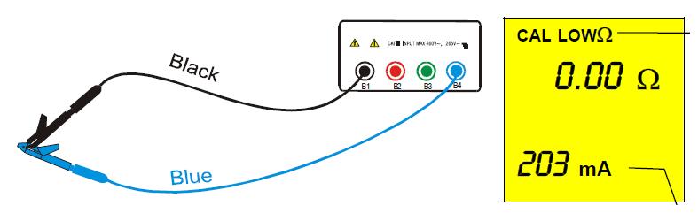 Σύνδεση οργάνου για την αντιστάθμιση των καλωδίων μέτρησης (Πηγή MacroTest)