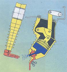 Τομή και αρχή λειτουργίας μονωτήρα