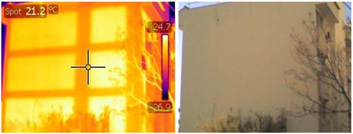 Θερμική φωτογραφία κτηρίου
